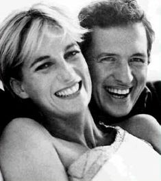 A rare photograph of Mario Testino and Princess Diana taken shortly after the photo session at Kensington Palace in 1997.