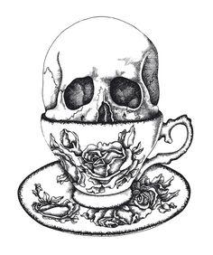 ✯ Skull Tea :: Artist Unknown✯