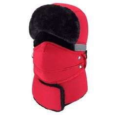 b13de0c4bd8 Winter Windproof Trapper Hat for Men Warm Hats for Men Outdoor Skiing Sport  (Red)