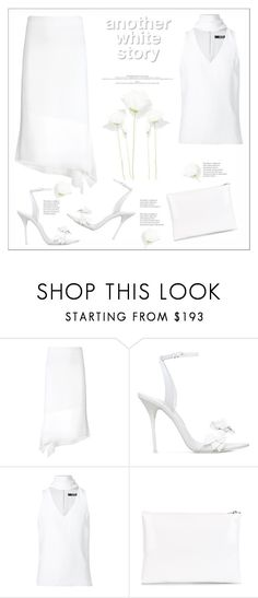 """""""Delicate story"""" by kiki-bi ❤ liked on Polyvore featuring Joseph, Sophia Webster, Badgley Mischka and Golden Goose"""