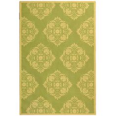 Safavieh Hand-hooked Motifa Light Green Wool Rug (5'3 x 8'3)