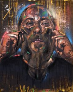 Galo, oil and Spray Paint on canvas, Spray Paint On Canvas, Diy Canvas Art, Graffiti Designs, Graffiti Art, Grafitti Street, Mushroom Art, Colossal Art, Hip Hop Art, Street Artists