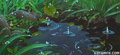 Rain Studio Ghibli Anime Scenery Arrietty Karigurashi No Arrietty Karigurashi No Arriettyedit Rain Animation, Animation Reference, Anime Gifs, Anime Art, Anime Disney, Arte 8 Bits, The Garden Of Words, Casa Anime, Secret World Of Arrietty