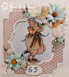 Hallo allemaal, Gisteren is mijn schoonmoeder 65 geworden en daar hoort natuurlijk een kaartje bij. Voor de basis heb ik een mal gebruikt ...