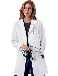 Cherokee Women's 346 Lab Coat features a variety of pockets to store all of your belongings. Get all of you Cherokee Scrubs for less at Uniform Advantage. Cherokee Uniforms, Cherokee Scrubs, Doctor White Coat, White Lab Coat, Koi Scrubs, Cherokee Woman, Scrub Jackets, Lab Coats, Professional Look