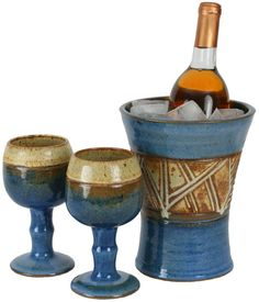 Western Ranchero Wine Cooler Set by KC Pottery, $81.25