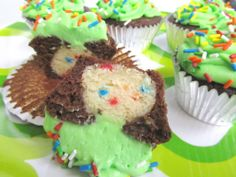 Funfetti Truffle Chocolate Cupcakes. SO much sugar and butter, but this cannot possibly be a bad idea