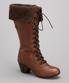 Love this Brown Finland Leather Boot by Eric Michael by Laurevan on #zulily! #zulilyfinds