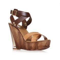 koffee, brown shoe by carvela kurt geiger - women shoes wedges