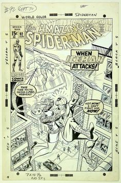 John Romita cover of AMAZING SPIDER-MAN #92.