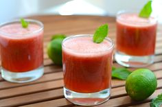 Watermelon Mojito Smoothie | Girl Makes Food  Add a little rum and YUM!