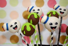 Ghostbusters cakepops. - Cake by LenkaSweetDreams