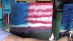 American Sky Acrylic Painting for beginners - YouTube