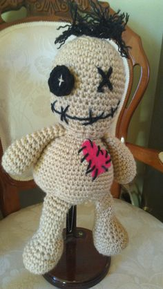 These fun Voodoo Dolls are all unique and hand crocheted. Each has his or her own story and is created with love and laughter.    For more information visit: http://www.etsy.com/shop/KnotForNothin    #Vodoo #Dolls #Crafting #Crocheting
