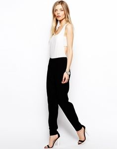 ASOS Jumpsuit in Monochrome with Bandeau Detail - Multi
