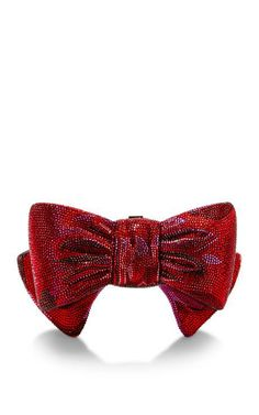 Judith Leiber Red Bow Just For You Clutch by Judith Leiber for Preorder on Moda Operandi