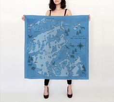 Rat Portage Bay Print Scarf ★ Every item you buy from Friends of Lake of the Woods Gift Shop directly supports worthwhile local causes. The more you buy, the more you give.