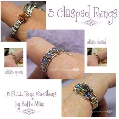 Clasp Wire Wrap Rings ALL 3 Variations | Craftsy