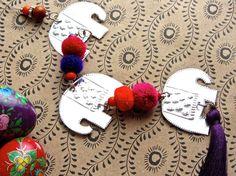 Embossed Metal Elephant Decoration Bohemian Hippie by FoilingStar