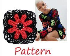 Crochet sweater top for women by EasyNadiaPatterns