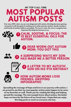 My Top 5 All-Time Most Popular Autism Posts http://embracingthespectrum.com/top-5-time-popular-autism-posts/ #autism #popular
