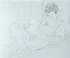"""""""Drawing is rather like playing chess: your mind races ahead of the moves that you eventually make."""" David Hockney"""