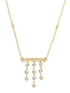Two-Tone & Diamond Geometric Pendant Necklace by H2 at Hammerman