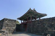 Folk Village Wall Castle of Jeju Island.