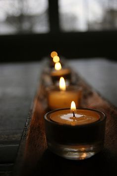 A gentle glow. I love candlelight Candle In The Wind, Candle Lanterns, Ikea Candles, Fall Candles, Votive Candles, Tea Lights, Fall Lights, Happy Lights, Night Lights