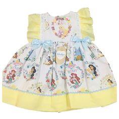 KINDER BOUTIQUE Baby Girls Disney Princesses Ribbon Bow Spanish Style Dress - 6-12 Months
