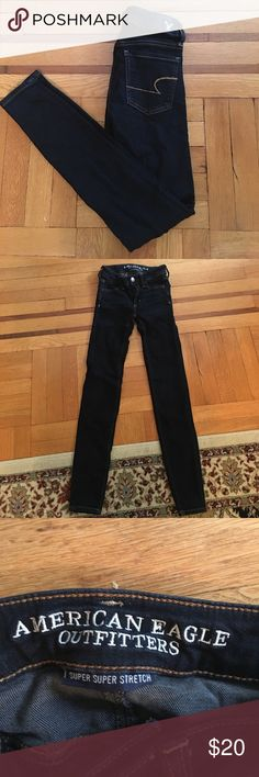 American Eagle Outfitters jegging Like new. Dark blue. No fading. Reg length American Eagle Outfitters Jeans Skinny