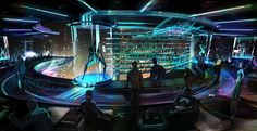 Cyberpunk, Future, Futuristic, SpaceClub by ~maykrender on deviantART Cyberpunk City, Ville Cyberpunk, Cyberpunk Kunst, Cyberpunk Aesthetic, Futuristic City, Environment Painting, Sci Fi Environment, Environment Design, Digital Painter