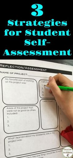 Self-assessment has transformed my classroom. Grab 3 strategies you can use with your students today.