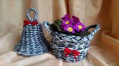 Pletení z papíru #4 (Patina) Wicker Baskets, Decor, Newspaper Art, Hampers, Paper Envelopes, Decoration, Decorating, Woven Baskets, Deco