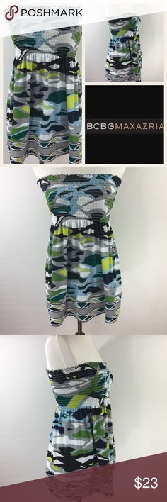 Selling this BCBG MaxAzria Blue Multi Tube Top on Poshmark! My username is: dcgirl04. #shopmycloset #poshmark #fashion #shopping #style #forsale #BCBGMaxAzria #Tops
