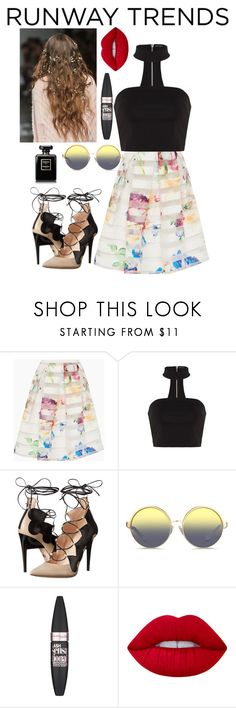 """""""Colors"""" by shelbs1234 ❤ liked on Polyvore featuring Ted Baker, Ruthie Davis, Matthew Williamson, Maybelline and Lime Crime"""