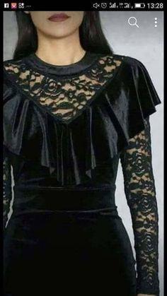 Frock Fashion, Women's Fashion Dresses, Hijab Fashion, Stylish Dress Designs, Stylish Dresses, Fashion Desinger, Velvet Fashion, Dress With Cardigan, Leather Dresses