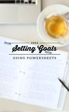 For the last several years, I've set annual goals. I love doing it, but I  wasn't always great about following through on them. Last year, I worked  through Lara Casey's Powersheets, and I found them so helpful that this  year I decided to stick with them and order a new set. Lara Casey, the  cr