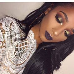 Top 71 Dark Skin Makeup Inspirations With Gold Touch Up
