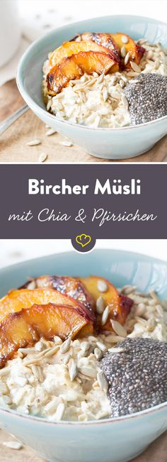 Dieses Müsli macht Morgenmuffel munter. Klassisches Bircher Müsli trifft auf Chia-Pudding und griechischen Joghurt und wird so zu einem echten Fitmacher.
