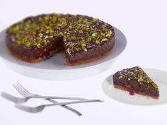 Pistachio, Cherry and Chocolate Tart
