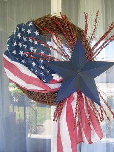 4th of July Wreath  Details..valthecraftygal.blogspot.com