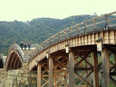 One of Japan's most famous sights, the bridge was originally  built in 1673