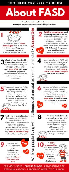 90 Real People. Real Lives – Red Shoes Rock International Relay Guest Blogger Ann Yurcek Visit her blog at Parenting Complex Children Day 10 Ten Things You Need to Know About FASD (Fetal Alcohol Sp…