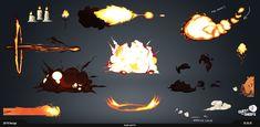 """Quest For sheeps """"Smoke and Fire"""" FX 2D, Kevin-Mark Bonein on ArtStation at https://www.artstation.com/artwork/EY2Yn"""