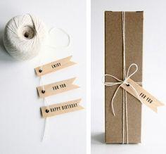 #simple #kraftpaper #giftwrap