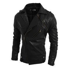 New Fashion 2015 Quality Detachable Winter Men Coat Leather Jacket Locomotive Black Leather Jacket Men Sleeve Removable M-3XL