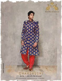 The theme of their, collection is CHAKSHUSHI - the art where 'one is able to perceive and see all 3 worlds'.  www.facebook.com/barkhaNsonzal www.twitter.com/barkhaNsonzal  #BarkhanSonzal #BarkhaSharma  #SonzalPatel, #BarkhaPatel #fashion  #menswear , #groomswear #India #sherwanis  #jackets #breeches #jodhpuris #funkywear #contemporary #dance #music