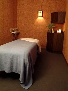 small massage room...I want to be in these places almost as much as the destinations seen here.