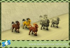 La Luna Rossa-Sims: Pretty Prancing Palomino Pony Toy • Sims 4 Downloads